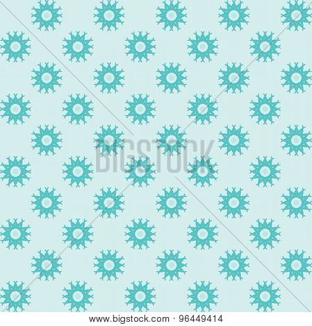 Geometric blue seamless polka dot pattern with circles. Wrapping paper.