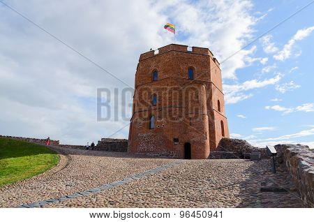 Gediminas Tower On Castle Hill, Vilnius, Lithuania