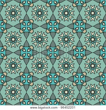 Simple Colored Geometrical Ornament.