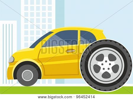 Car, Replacement Of Wheels, T...