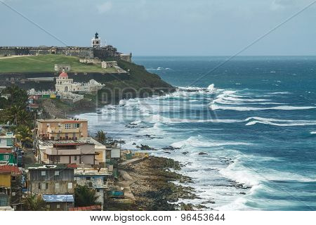Crashing Surf At El Morro Fortress, San Juan, Puerto Rico