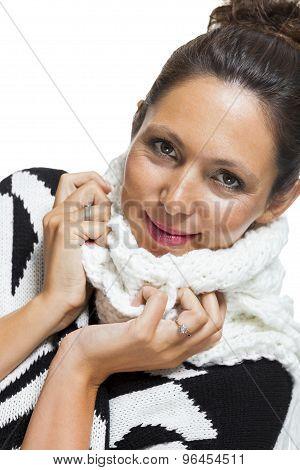Attractive Elegant Woman In Winter Fashion