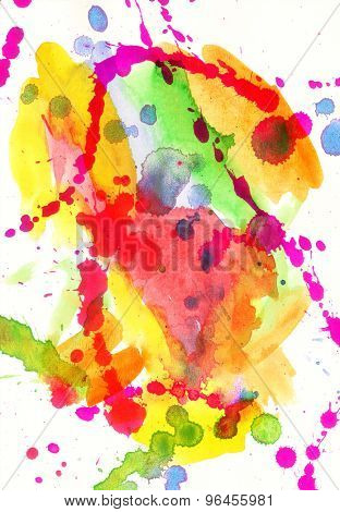 Abstract splashes of watercolor  background
