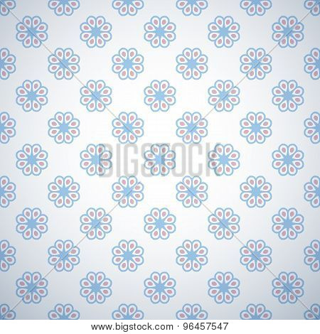 Pastel retro different vector seamless pattern