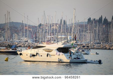 People On Yacht At Adriatic Coast