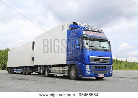 Blue Volvo FH Temperature Controlled Truck