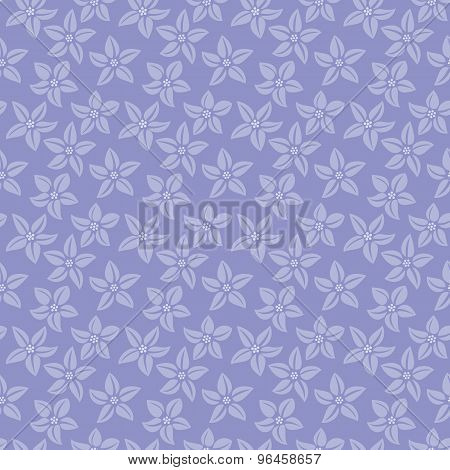 Seamless Pattern With Flowers On A Violet Background