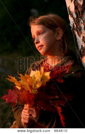 Autumnal Portrait At Sunset