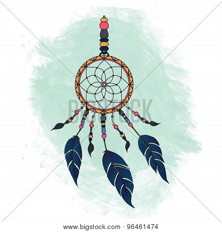 Colorful dreamcatcher.