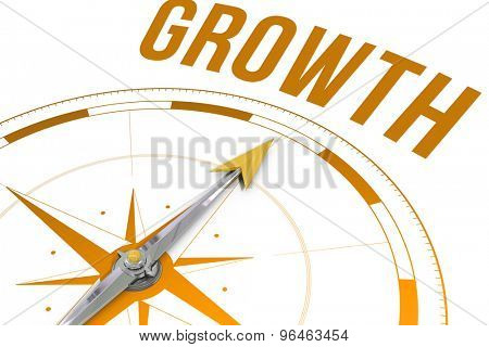 The word growth against compass