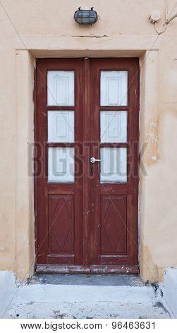 old traditional door in Oia santorini