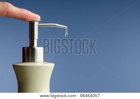 Liquid soap drip