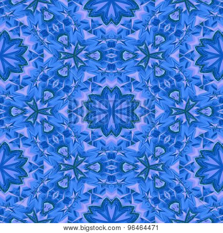 Seamless Abstract Blue Floral Pattern Or Background