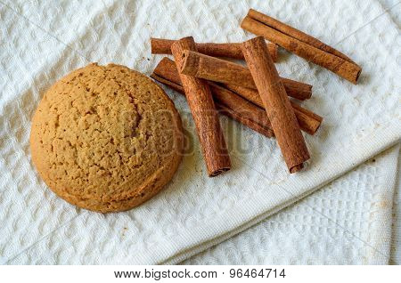 Cinnamon And Oatmeal Cookie
