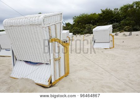 The Beach Chairs At The Baltic Sea
