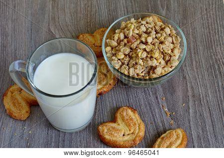 Milk And Muesli For Breakfast