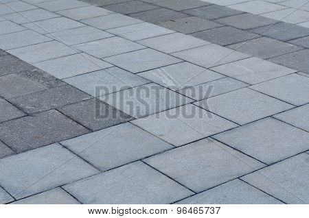 Brick Pavement In The City