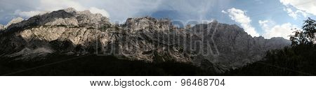 North Face of Mount Triglav (2,864 m) in the Julian Alps, Slovenia, pictured from the Vrata Valley.