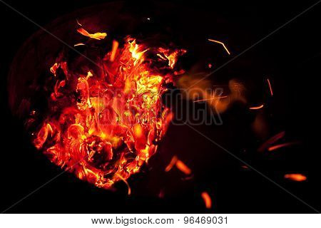 Red Hot Burning Embers