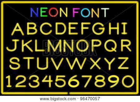 Neon letters
