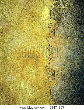 Grunge Yellow Background With Rusty Pattern. Element For Design. Template For Design.