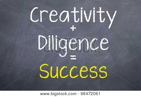 Creativity + Diligence = Success