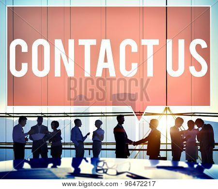 Contact Us Hotline Info Service Customer Care Concept