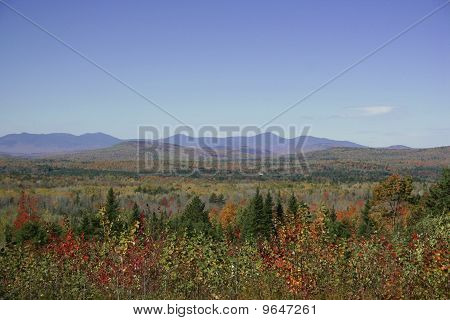 Fall foliage scenery Maine mountains