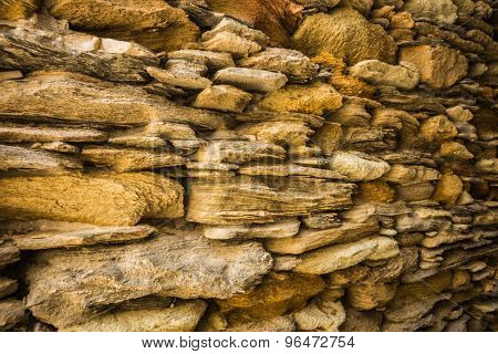 Masonry Fence On The Island Of Andros, Greece