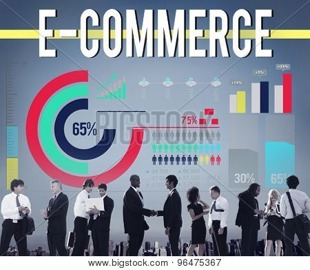 E-commerce Networking Global Communication Website Concept