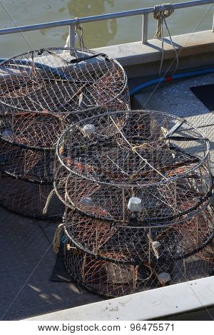 Crab Traps on Deck