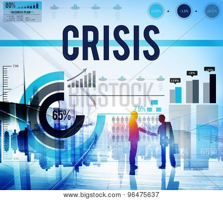 Crisis Recession Risk Economic Financial Concept