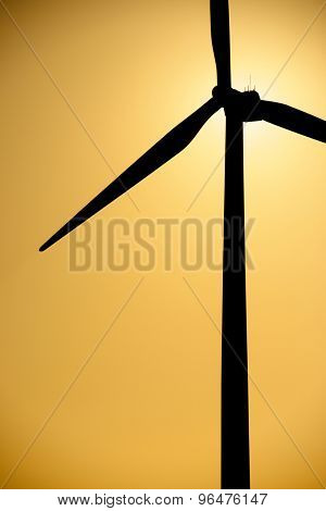 Windmill for electric power production, La Muela, Zaragoza Province, Aragon, Spain.