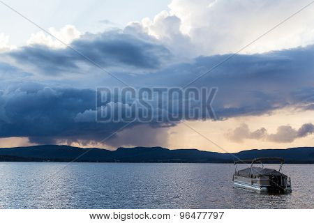 Dark Strom Cloud Over Mountain