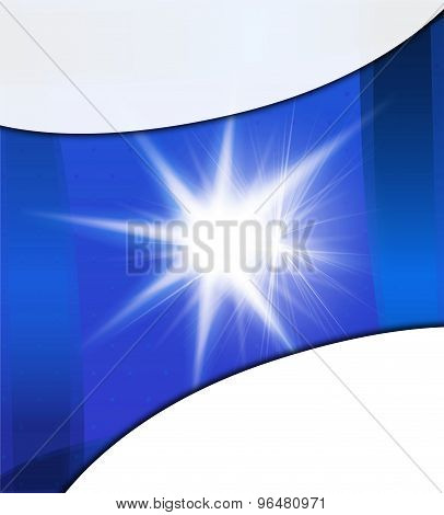 Abstract background with flare. Bright summer sun
