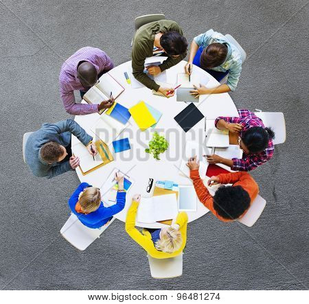 Group of Diverse People Working in a Team Concept