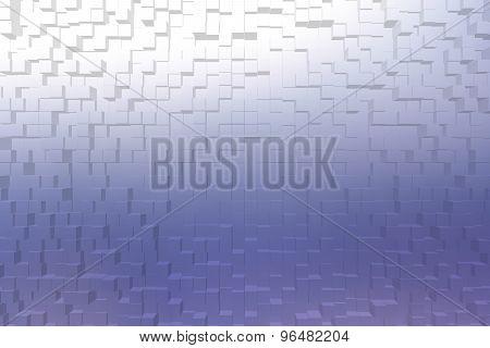 Frosted Glass Blue Color, 3D Block Style