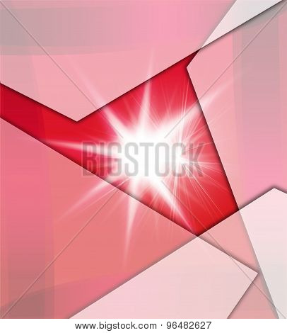 Red Background With Beams