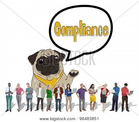 Compliance Affirmation Continuity Regulation Concept