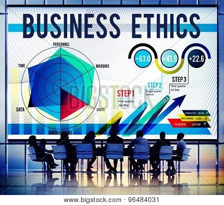 Business Ethics Integrity Moral Responsibiliy Honest Concept