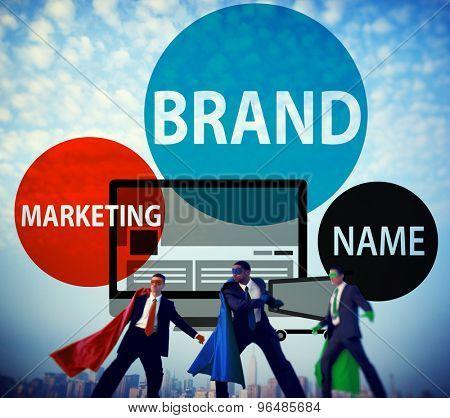 Brand Branding Advertising Marketing Commerce Concept