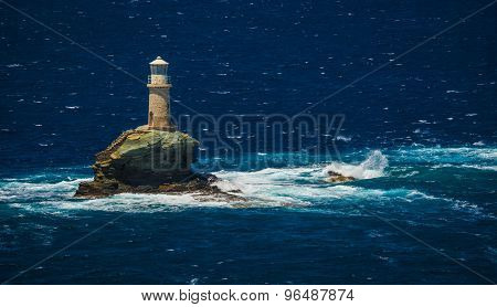 Lighthouse Near The City Of Andros, Andros, Greece