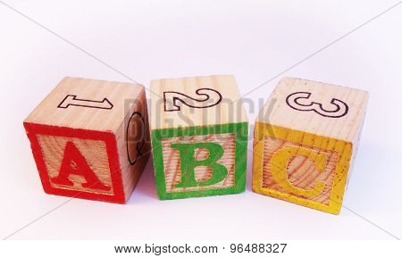 ABC on wooden blocks
