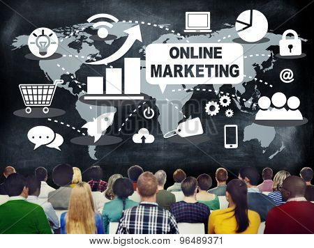 Online Marketing Digital Technology Concept