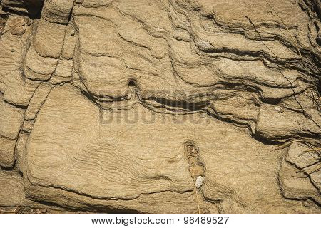 Rock Ledges On The Beach, Andros, Greece