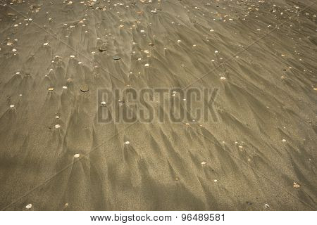 Sand And Pebbles On The Beach, Andros, Greece