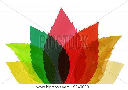 Multicolored Abstract Leaves
