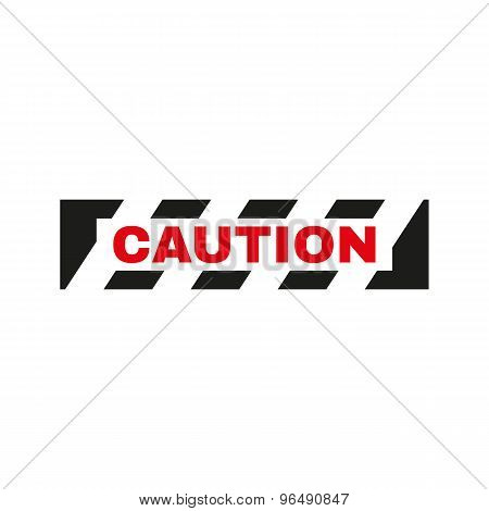 The caution icon. Danger and hazard, attention symbol. Flat