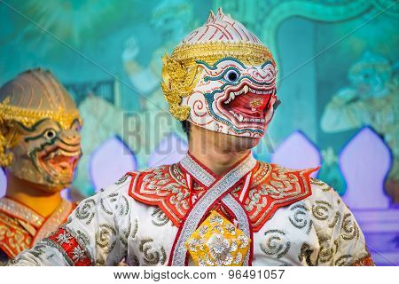 Khon - Thai Traditional Mask Dance
