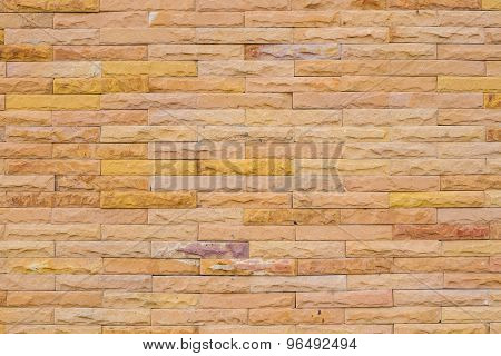 Wall Made From Sandstone Bricks, Abstract Background